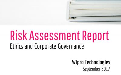 Ethics and Governance Assessment – Wipro, September 2017