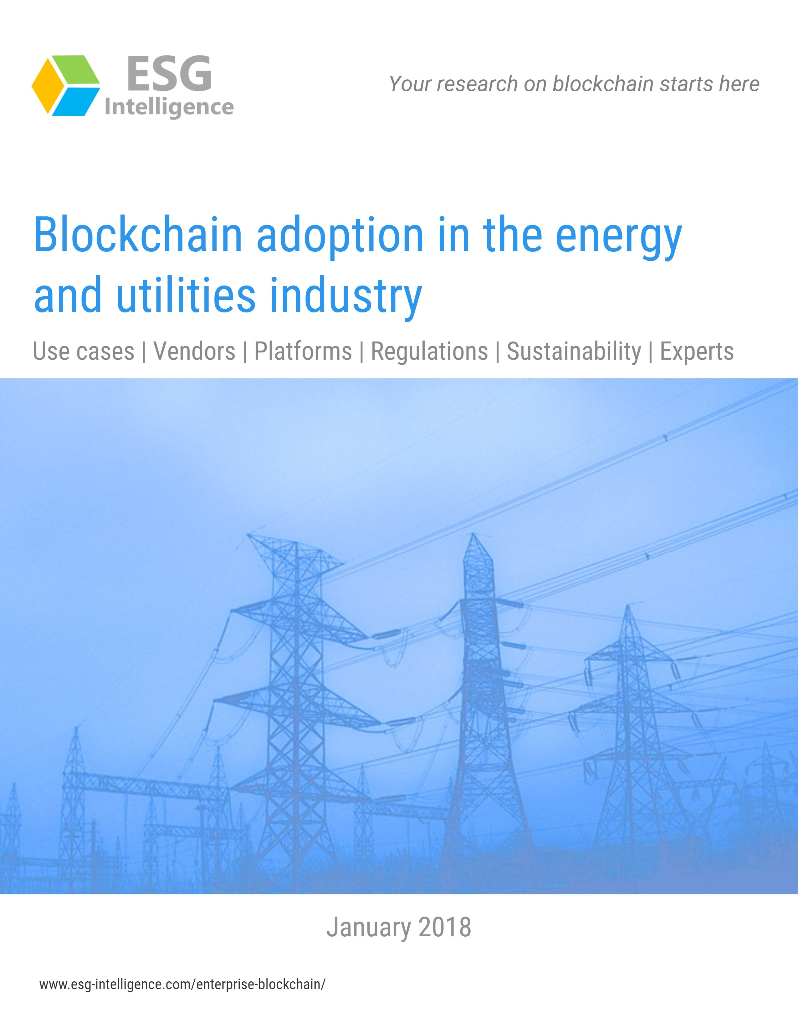Blockchain adoption in the energy and utilities industry